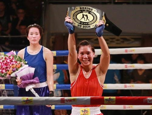 Boxer Linh beats Duyên to win 60kg category
