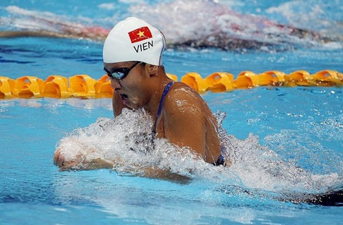 Ánh Viên won bronze medal 200m freestyle