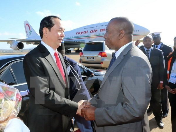 President arrives in Madagascar for 16th Francophone Summit