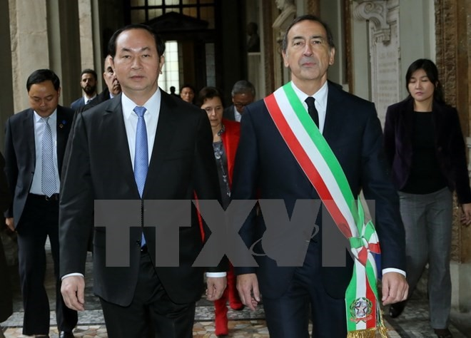 President meets Italys Milan city Lombardy regions leaders