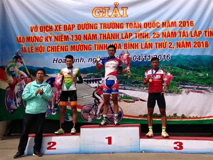 Đồng Tháp win mens individual in road race