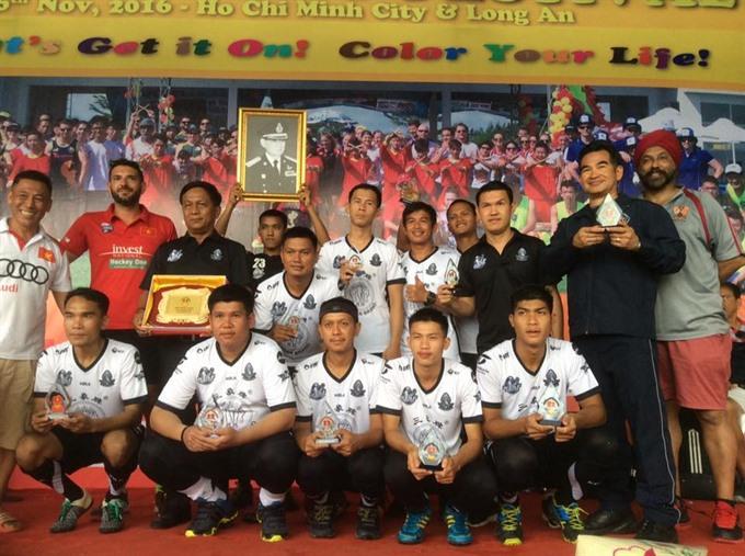 Royal Thai Airforce win mens title at Việt Nam hockey festival