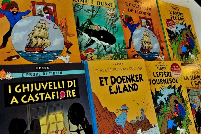 Page from Tintin moon adventure may raise 1 mn at auction