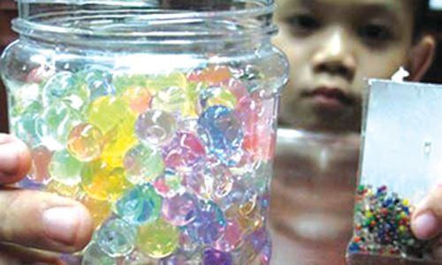 Swelling toys a health hazard public warned