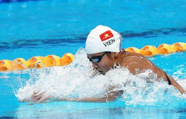 Viên fails in 200m medley at world event