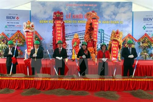 Nghệ An Hospital construction starts