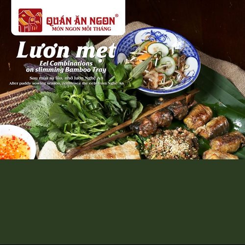Nghệ An assorted eel on bamboo plate