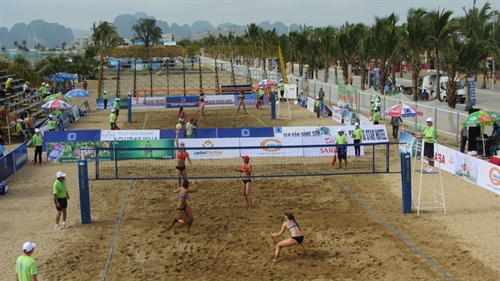 Womens beach volleyball champs to kick off