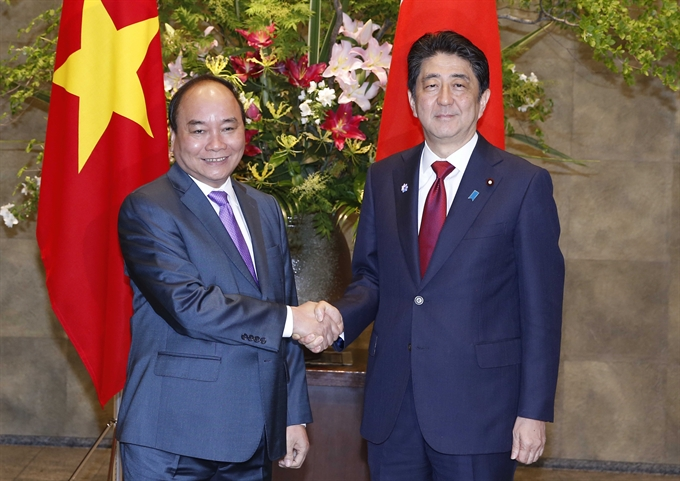 Vietnamese Japanese Prime Ministers hold talks