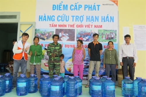 World Vision donates water to drought victims