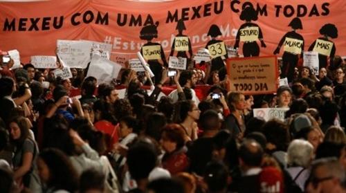 Brazilian women protest culture of rape