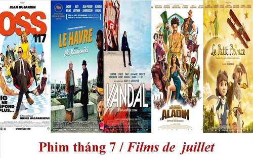French films shown at IDECAF in July