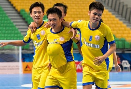 Khánh Hòa win second match enter AFF champs quarters