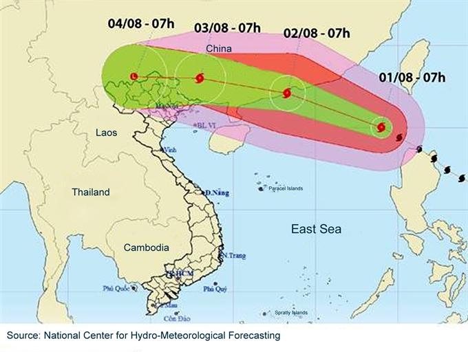 Việt Nam gears up for storm Nida