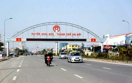 Hoài Đức chosen to become urban district by 2020