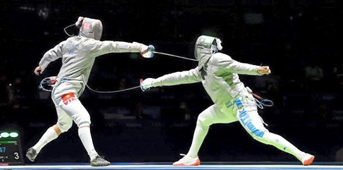 An eliminated in Olympics sabre event