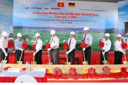 Wind power plant construction commences in Ninh Thuận