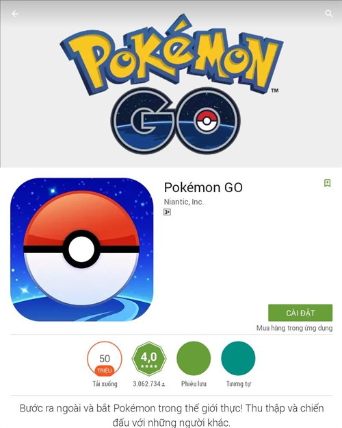 Global hit Pokemon Go officially launched in Việt Nam