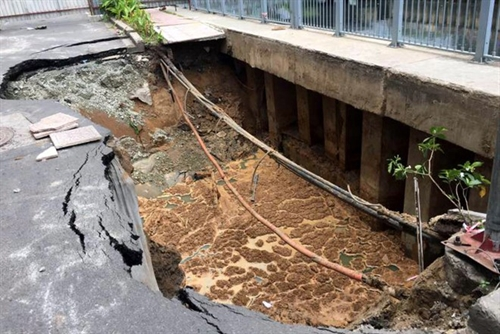 Sinkholes test quality of road construction
