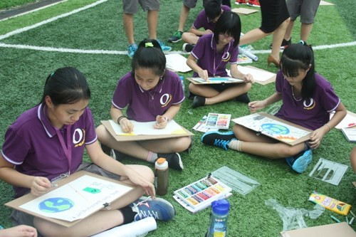 Kids win ozone preservation painting contest