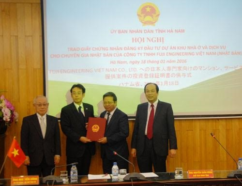 Fuji Engineering Vietnam to build houses for Japanese workers in Hà Nam