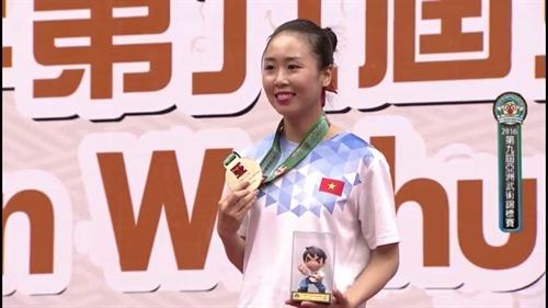 Ly win Asian wushu gold medal