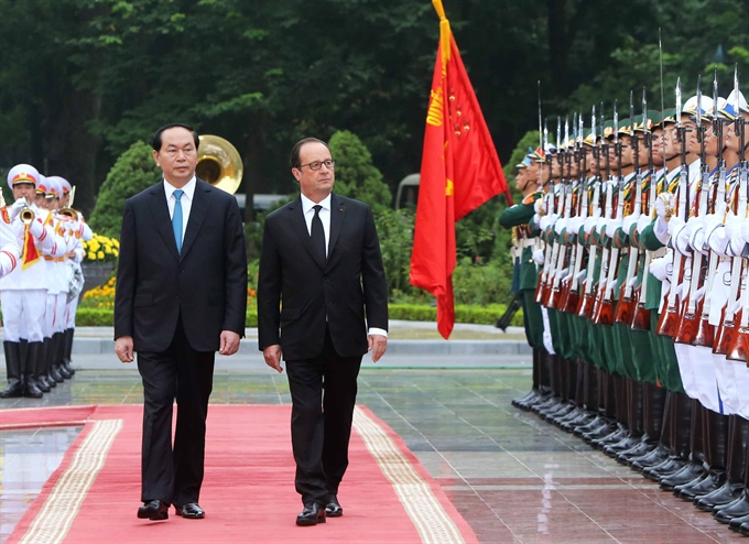 Việt Nam France leaders discuss ties