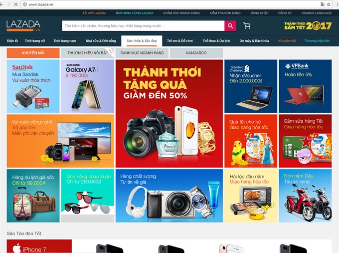 Online Tết shopping a boon for busy pros