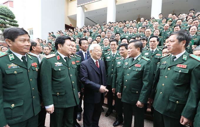 Party chief Trong lauds border guard forces defence efforts