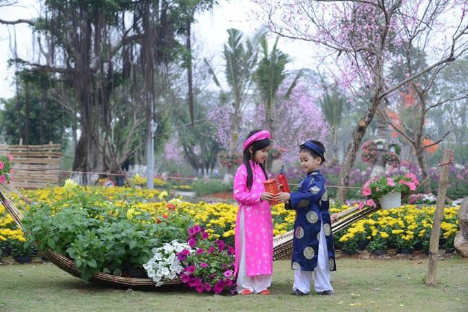 Flower festival to celebrate Tet at Ecopark