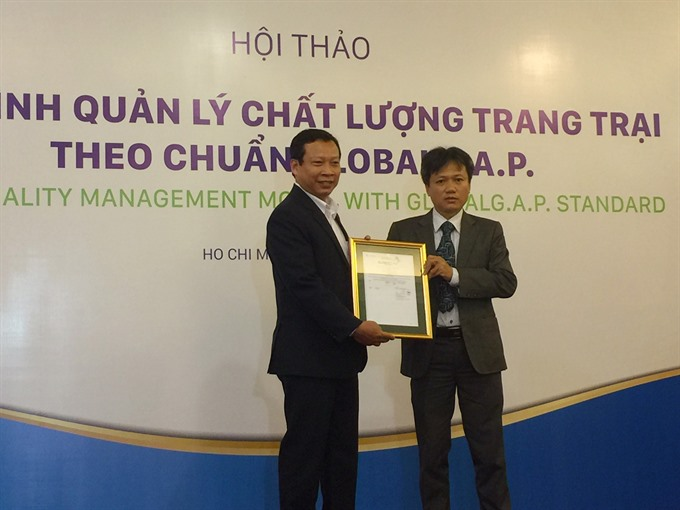 Anovas pig farm becomes 1st in VN to get Global G.A.P certification