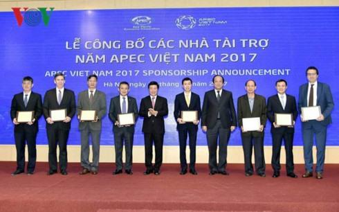 Viet Nam announces sponsors of APEC 2017 events