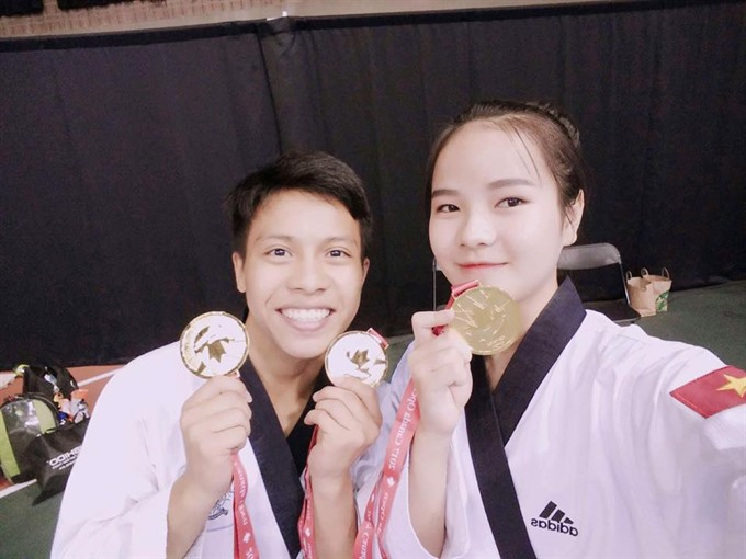Canada Open: VN taekwondo athletes win gold medals
