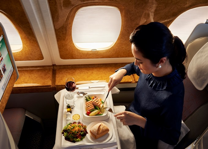 Dining on-board Emirates: A restaurant with local flavours