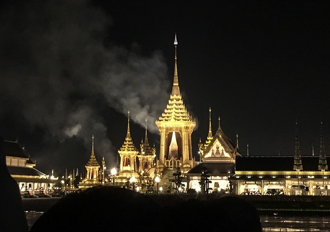 Relics picked from late Thai Kings ashes