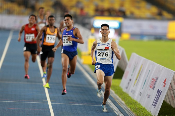 Thái wins 1500m at national athletics champs