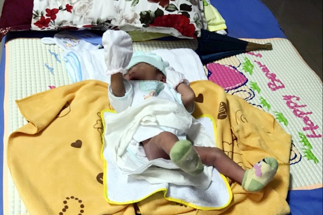 Abandoned infant rescued by locals