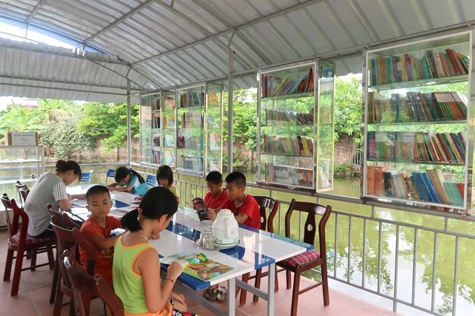 Children flock to Hải Dương reading garden