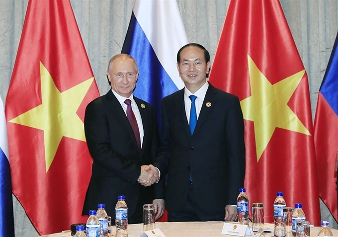 Vietnamese Russian Presidents hold meeting