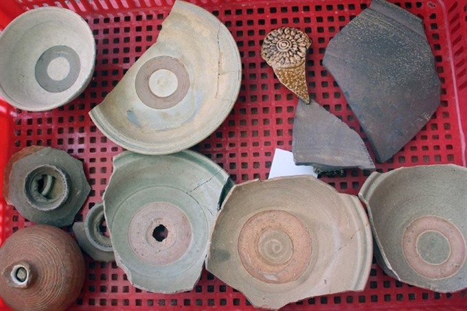 Champa artifacts unearthed in Bình Định