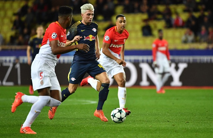 RB Leipzig destroy Monaco to aid last 16 hopes