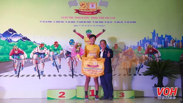 Điền wins overall yellow jersey at cycling event