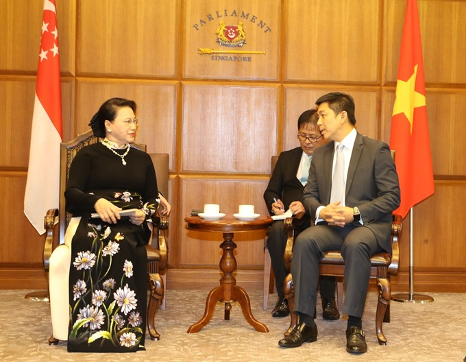 VN Singapore parliaments to promote bilateral ties