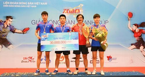 Hải Dương triumph at table tennis event