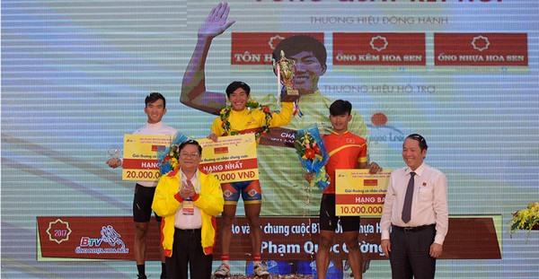 Cường wins Bình Dương Television Cycling Tournament