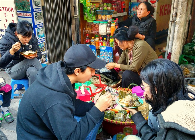 When it gets cold in Hà Nội bánh giò cravings arise