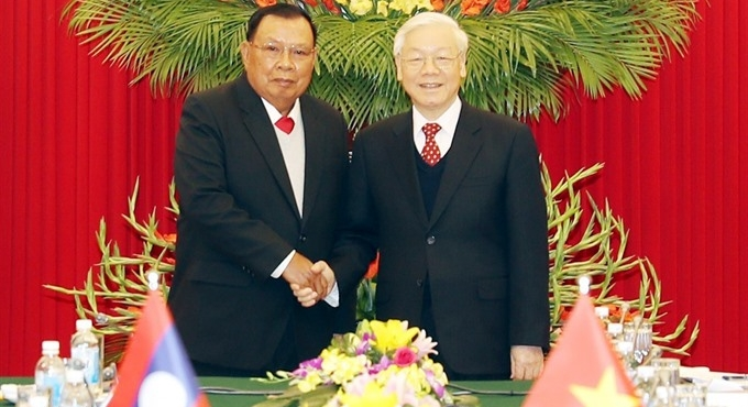 Vietnamese Lao leaders emphasise special ties