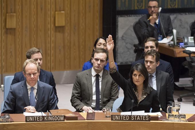 US vetoes UN resolution rejecting Trumps Jerusalem decision