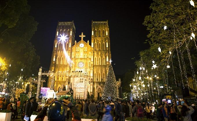 People celebrate Christmas welcome festive season