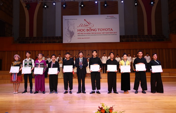 Young musicians honoured by Toyota